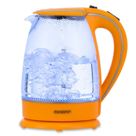 Wasserkocher Orange Glas 1,7L