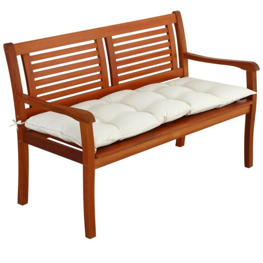 Coussin pour banc crème 120x50x8cm assise banc de jardin