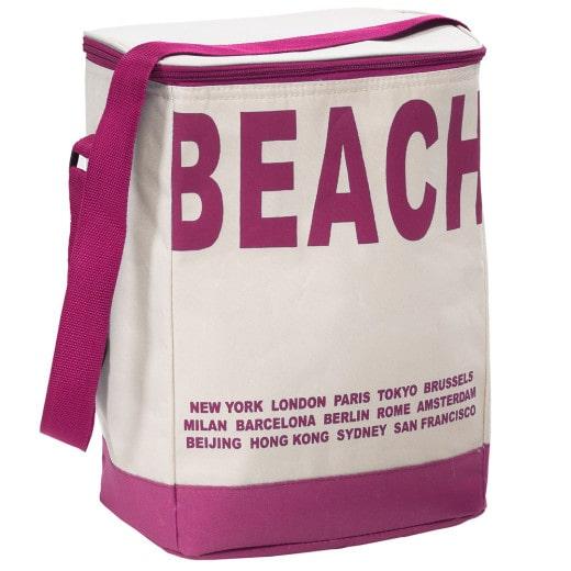 Kühltasche Beach Beige-Pink 20L