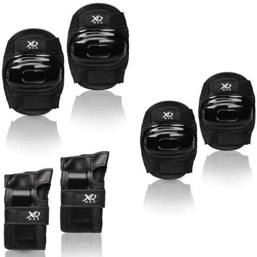 Set de protecteurs genouillêres coudiêres protêge-poignets enfants Taille L noir