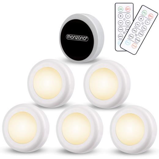 Set de 6 spots lampes LED Éclairage sous meuble Modèle blanc