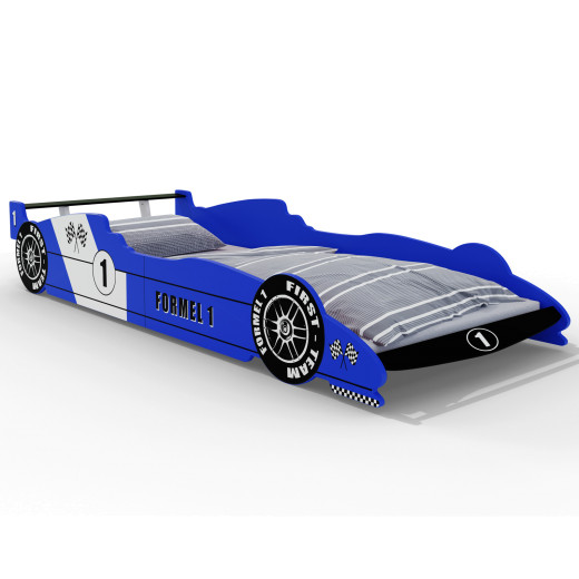 Lit enfant voiture Formule 1 Bleu
