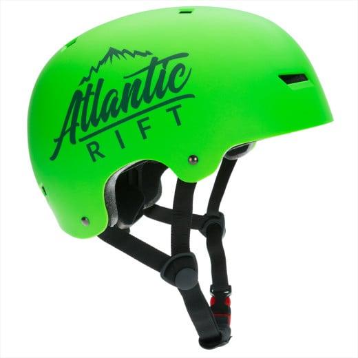 Casque de Skate Vélo BMX Rollers - Réglable - Anti-chocs - Taille M - Vert fluo