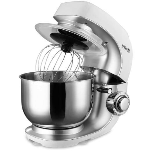 Robot de cuisine pâtissier 1000W 7 vitesses bol 4,5L inox