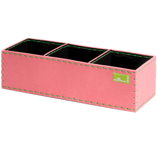 Kubus Pflanzenkasten aus Moosgummi 40x13,5x11 cm pink