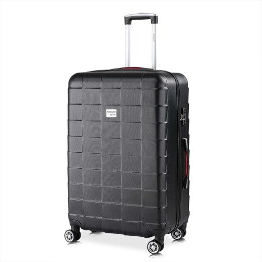 - Valise rigide Exopack - Bagage taille XL Noir - Poignée télescopique
