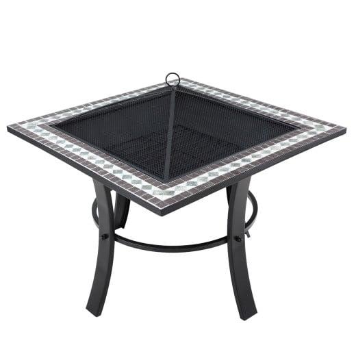 Brasero carré Runedak 76 cm acier
