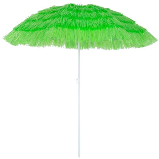 Parasol Hawaii - à~ 160 cm - Vert - Inclinable pour jardin terrasse plage