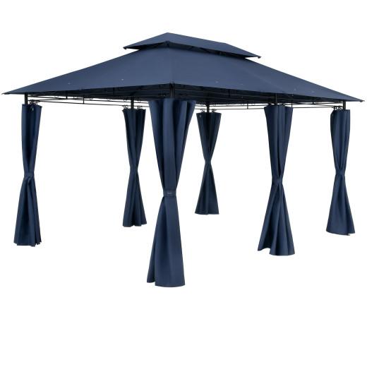 Pavillon Topas Blau 3x4m UV-Schutz 50+