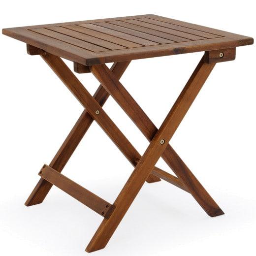 Table d'appoint jardin en acacia
