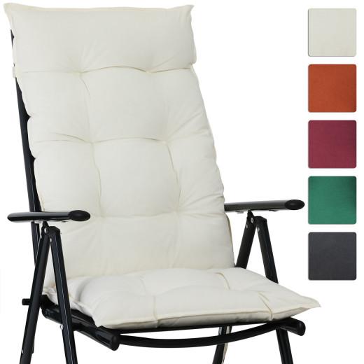 6x Coussins de chaise de jardin 100% Polyester