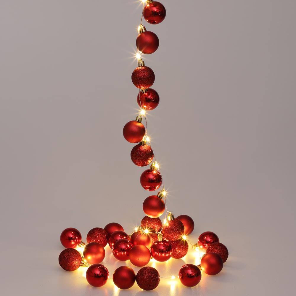 Guirlande lumineuse de Noël 2m boules LED rouge