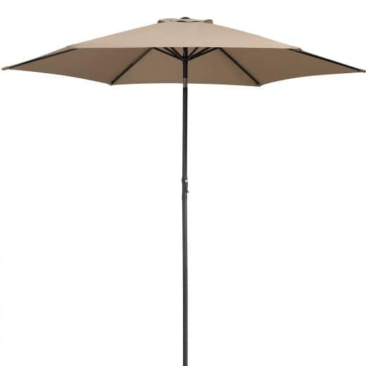 Sonnenschirm Taupe Alu Ø300cm UV-Schutz 50+