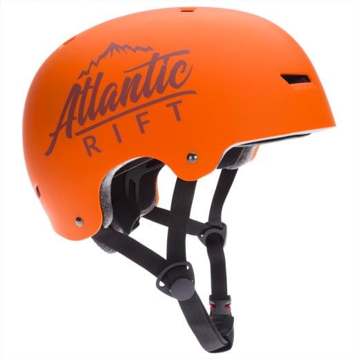 Casque de Skate Vélo BMX Rollers - Réglable - Anti-chocs - Taille M - Orange