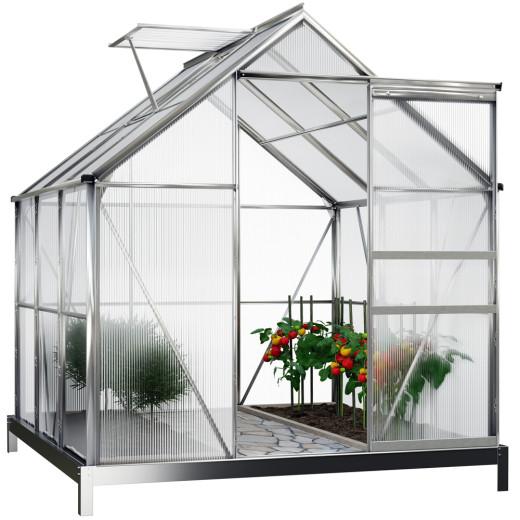 Serre de jardin 5,85 m³ avec fondation
