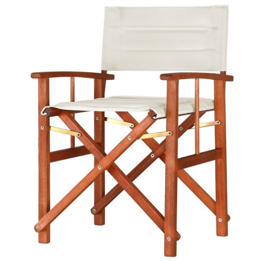 Chaise de metteur en scène - Chaise de régie - Chaise pliante en Bois Eucalyptus Terrasse Jardin Maison