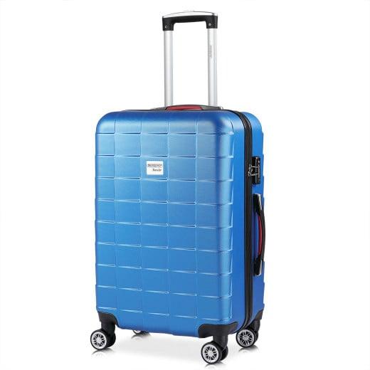 - Valise rigide Exopack - Bagage taille L Bleu - Poignée télescopique