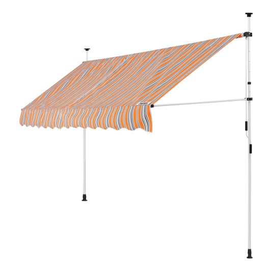 Klemmmarkise Orange/Schwarz/Weiß 350cm