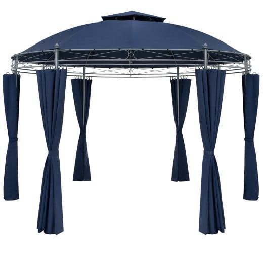 Pavillon Toscana Blau Ø3,5m UV-Schutz 50+