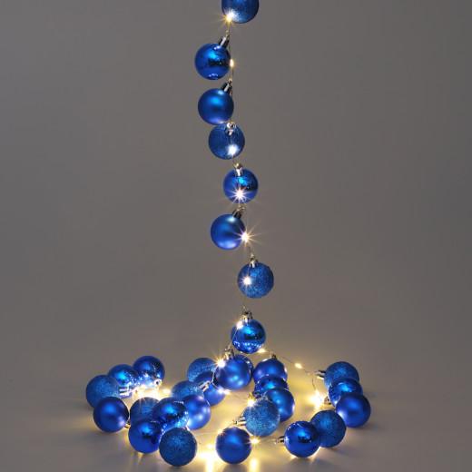 Lichterkette LED Blau 2m Kugeln