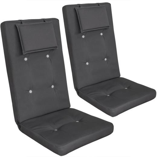 2 x Coussins pour chaises Vanamo - Anthracite
