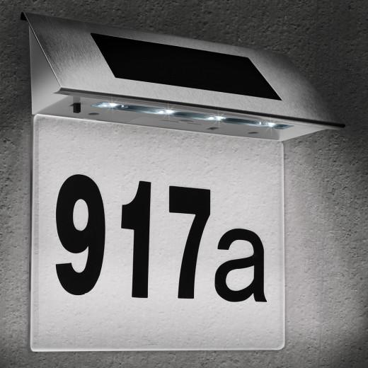 Solar Hausnummer transparent