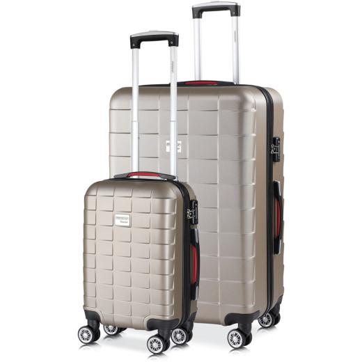 Set de 2 valises rigides Exopack M/XL Champagne