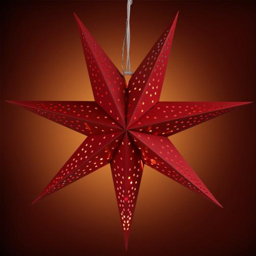 Étoiles de papier Rouge Ø60cm 7 pointes