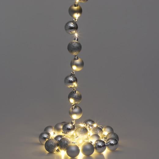 Lichterkette LED Silber 2m Kugeln