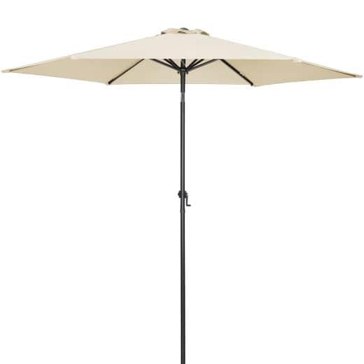Parasol en aluminium - à~ 300cm - Protection soleil rayons UV 40 - coloris beige