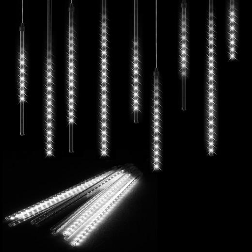 Diamantenregen Lichterkette Kaltweiß