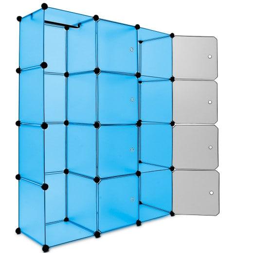 Armoire casiers en plastique - medium - bleu
