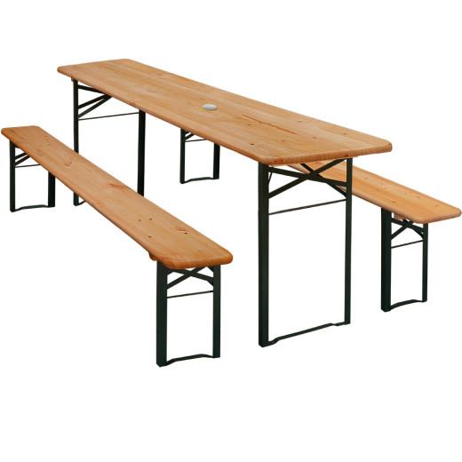 Ensemble Table et 2 bancs - 170cm