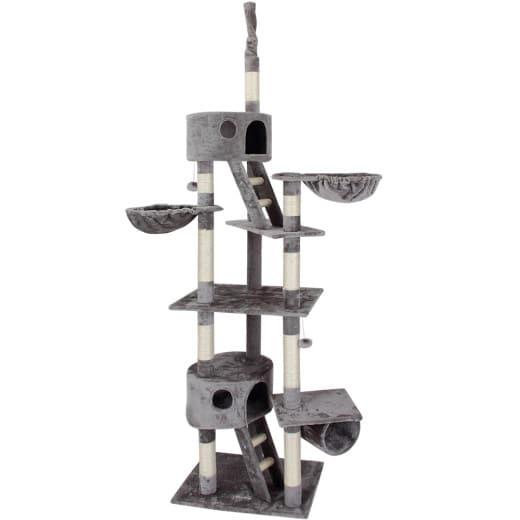 Kratzbaum deckenhoch 240 - 260 cm Grau