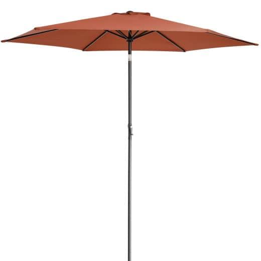 Sonnenschirm Terrakotta Alu Ø300cm UV-Schutz 50+