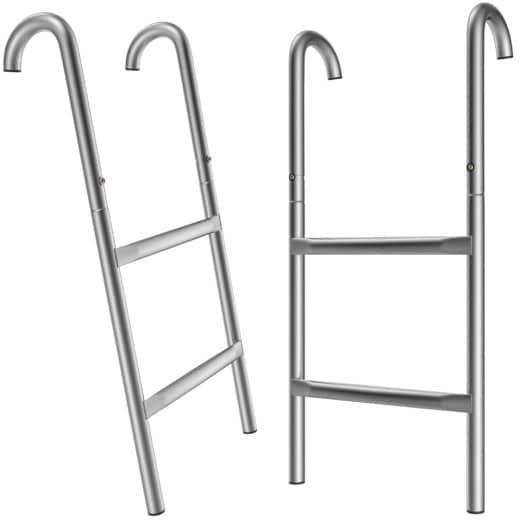 Échelle pour trampoline - 61,5 cm / 2 marches en métal - Marche Accessoire