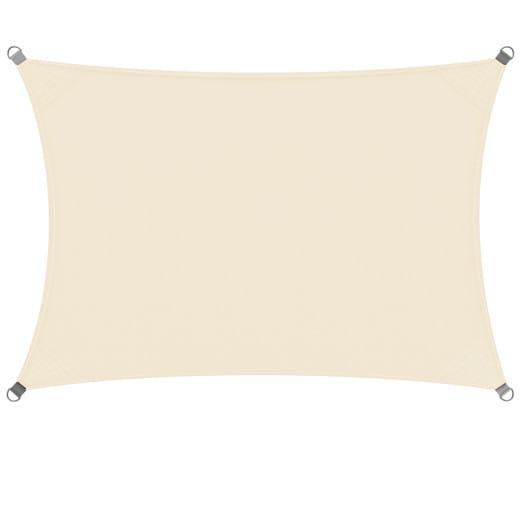 Voile d'ombrage crème 2x4m OXFORD rectangulaire
