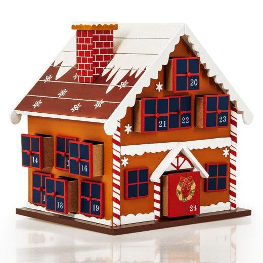 Calendrier de l'Avent - Maison en bois
