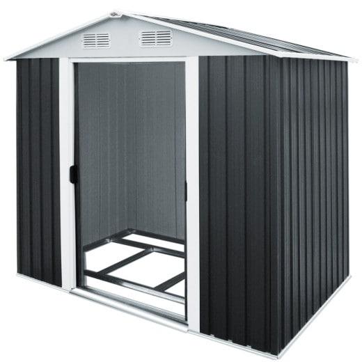 Gerätehaus in Anthrazit aus Metall 257x205x177,5cm