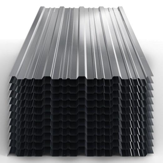 12x tôles profilées 129cm x 45cm gris