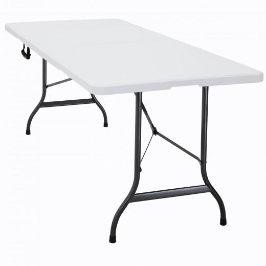 Gartentisch 2er-Set Weiß Kunststoff 183x76x74cm klappbar