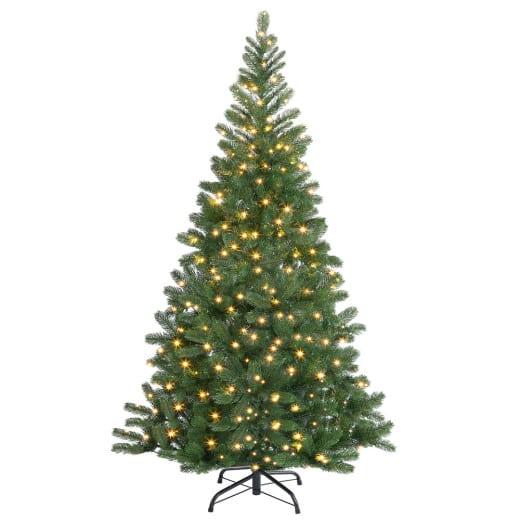 Sapin de Noël artificiel 140cm avec guirlande LED