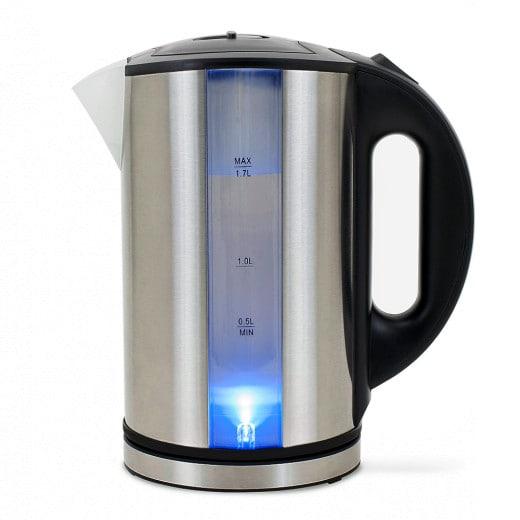 Bouilloire électrique 1,7L inox avec LED bleu