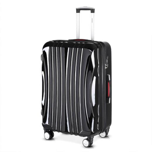 Valise rigide Ikarus taille XL 105L - Bagage de voyage noir