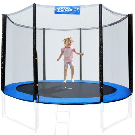 Filet de sécurité pour trampoline - Réseau dense entrée fermable - diam. 430 cm