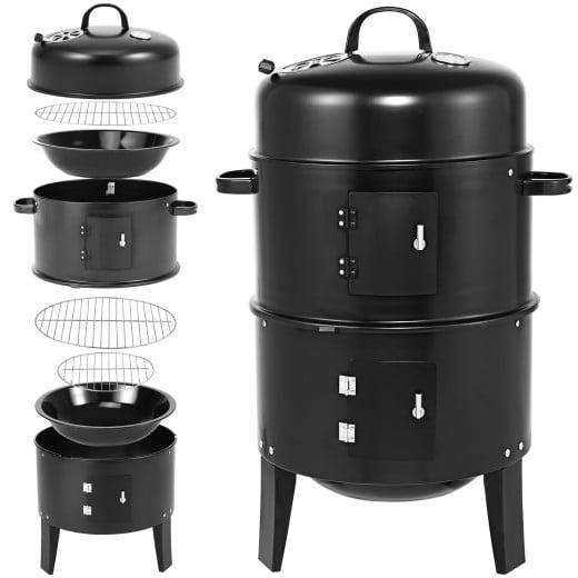 Barbecue 3 en 1 Fumoir Smoker avec thermomètre