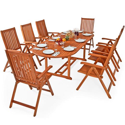Sitzgruppe Moreno 9 tlg - mit klappbarem Tisch