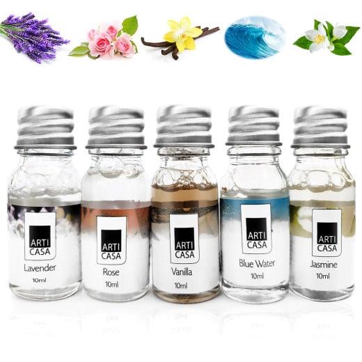 5 x 10ml flacons huile essentielle - Lavande - Ocean - Jasmin - Rose - Vanille