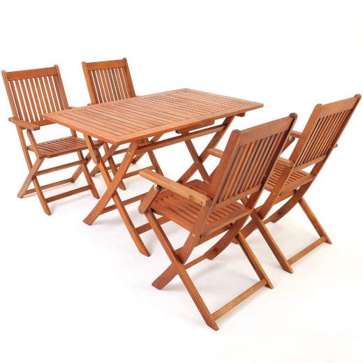 """Salon de jardin """"Sydney"""" 5 pcs en bois d'acacia"""