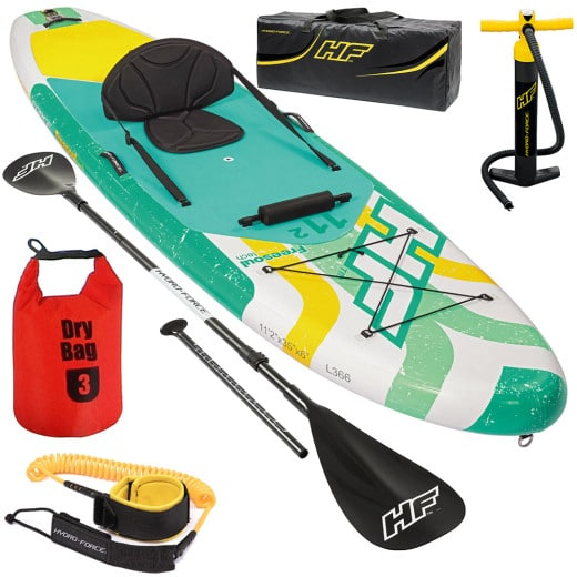 """Set Planche Stand Up Paddle SUP Kayak avec sac - HYDRO-FORCE""""¢ - 340x89x15 cm"""